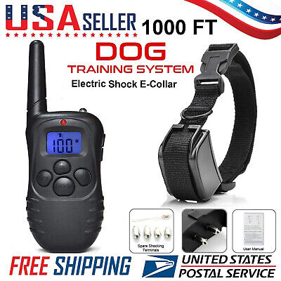 Remote LCD 300M Electric Shock Vibrate Pet Dog Training Collar Waterproof New