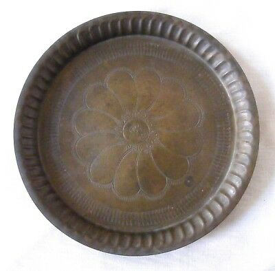 Old Antique Original Brass Mughal Islamic Holy Priest Plate In Good Condition 02
