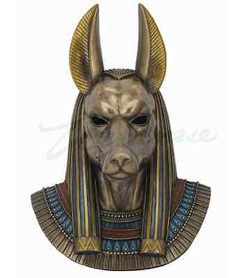 Anubis Bust Egyptian God Wall Plaque Sculpture  *FATHER'S DAY GIFT*