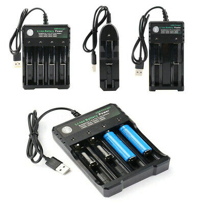 18650 Smart USB Battery Charger for Li-ion Rechargeable 10440 14500 Batteries