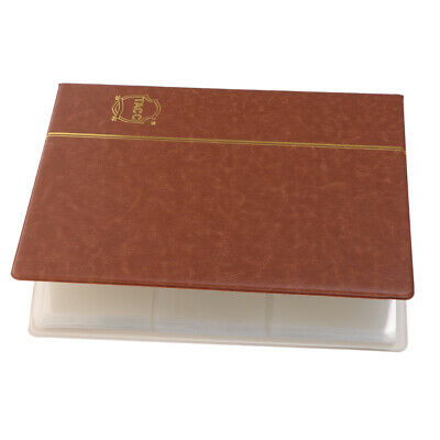 60 Pockets Paper Money Collection Album Stamps Book PU Leather Notes Brown