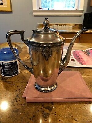 "Silver L'aiglon Apollo Epns Bernard Rices & Sons Coffer/tee Serving Pot 9"" Tall"