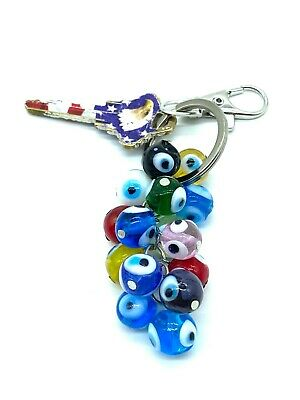 Turkish Evil Eye Charm Key Chain for Protection and Good Luck #1258