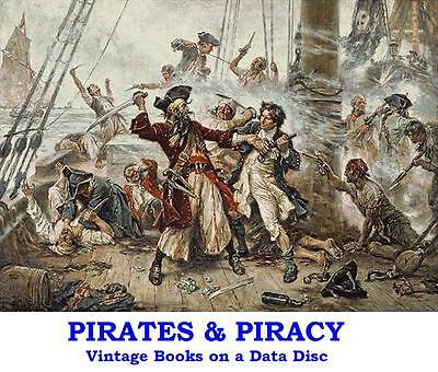 Pirates Buccaneers Collection 19 Vintage Piracy Books on Data Disc Kidd Morgan