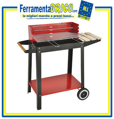 Home & Garden Yard, Garden & Outdoor Living Barbecue Carbone Grande 2 Griglie L96xp41xh93 Cm