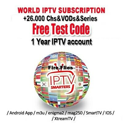 12 Month PREMIUM IPTV Subscription FHD&SD (MAG, iOS, Android, SMART TV, firestic