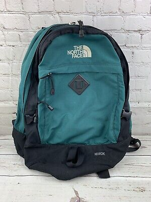 214c35e5e VTG THE NORTH Face Leather Bottom Backpack Green & Tan Nylon Brown ...