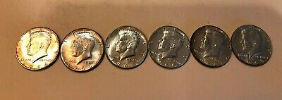 1964P Kennedy Half Dollar 90% Silver and 66,66,67,67,68D,. Nice coins Lot # 120