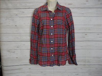965ea78e4 J. CREW WOMENS sz 4 plaid button down long sleeved Shrunken Boy in ...