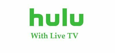 Hulu Plus Subscription⭐LIVE TV⭐Cloud DVR⭐ Unlimited Screens⭐1 Month - NOT Shared