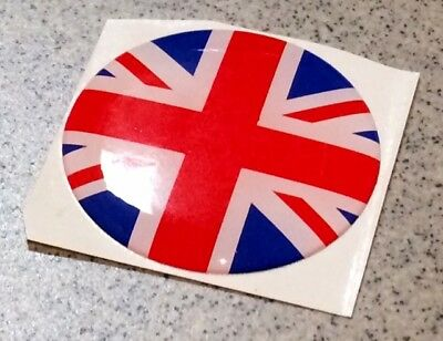 4* Badge autocollant 47mm UNION JACK UJ Austin Mini Cooper Rover centre de jante