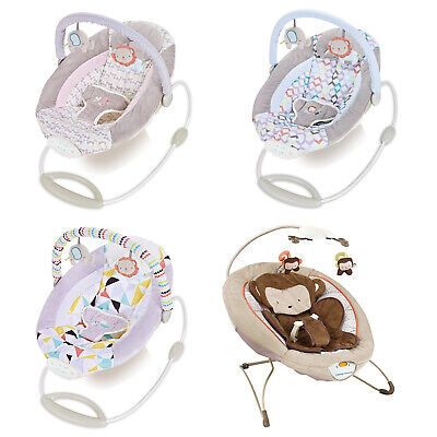 Baby Toddler Rocker Comfortable Cosy Bouncer Safe Chair Soothing Music Vibration
