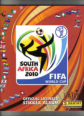 complete 2010 world cup panini sticker album