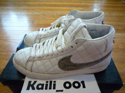 best website 4233f 2f988 Worn Nike Blazer SB Supreme Size 11 White 313962-121 WTD Paris Black RED  USED