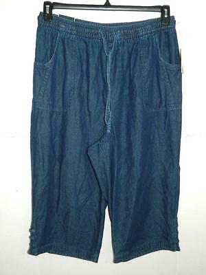 Karen Scott Womens Plus Denim Comfort Waist Capri Pants NWT Size 2X X 19 A2