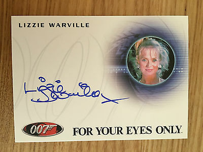 James Bond Archives 2014 Autograph Card Lizzie Warville as Poor Girl A249