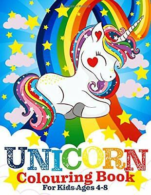Unicorn Colouring Book for Kids Ages 4-8 by Two Hoots Book Co New Paperback Book