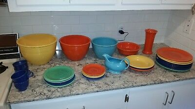 Fiestaware, Vintage, various colors, everything pictured