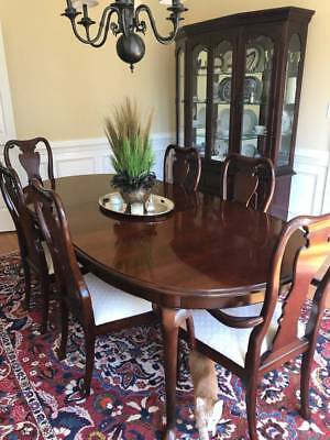 Thomasville Collectors Cherry 8 Pc Dining Set Suite Usa Made Free Ship Most