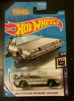 Hot Wheels back to the future time machine hover mode.delorean.diecast cars.toys