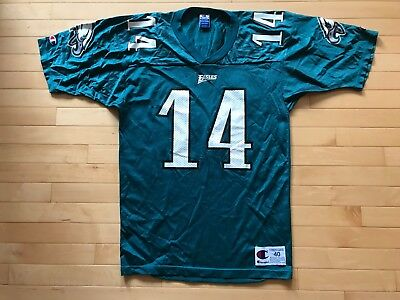 79c7921946e Vintage Champion Men's Ty Detmer #14 Philadelphia Eagles Jersey Made USA Sz  ...