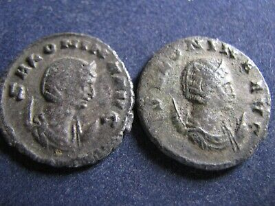 2 Genuine Ancient Roman Silver Billon Coins,Salonina,Both Have Some Great Detail