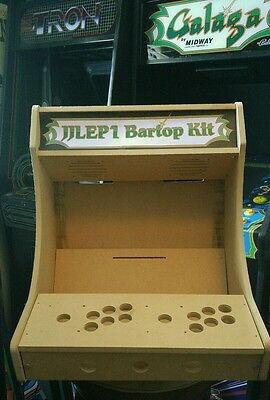 Easy to Assemble 2p Bartop / Tabletop Arcade Cabinet Kit w/ Marquee Holder HAPP