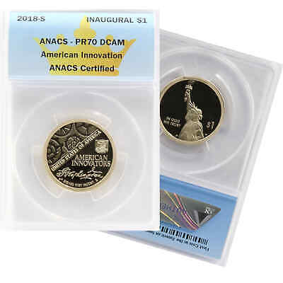 2018-S American Innovation Dollar Anacs Pr 70 Dcam