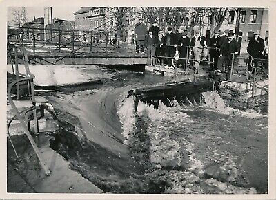 Foto 1939 Dendermonde overstroming Oud Sas Copyright Photo Acta (13x18cm)