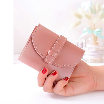 Women's PU Leather Wallet Trifold ID Card Holder Small Clutch Rfid Purse G