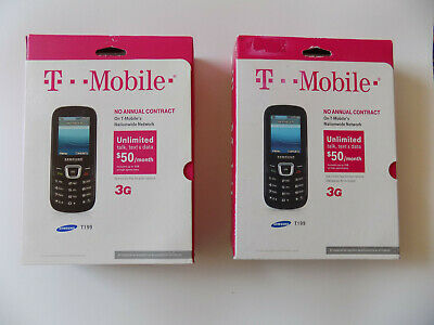 SAMSUNG T199 Black T-Mobile Cell Phone Prepaid Brand New Sealed Free Shipping!