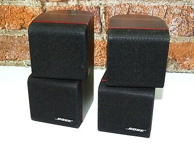 2 x Bose Red Line Lifestyle Double Cube Surround Sound Loud Speakers (Listing 1)