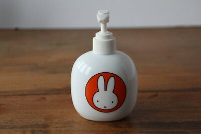 Miffy, Soap and Lotion Dispenser, White Ceramic with Orange and Yellow Miffy