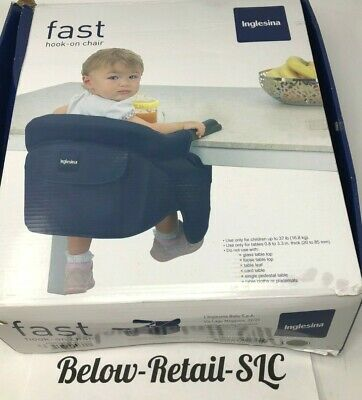Inglesina Fast Hook-On Chair Black New w/ Original Packaging & Free Shipping!