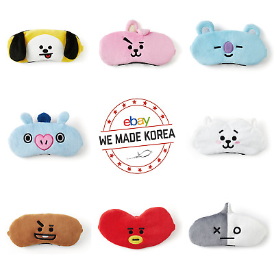 BTS BT21 Sleep Mask Eye Soft Padded Shade Cover Official K-Pop Authentic Goods
