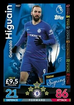 Match Attax Extra - 2018-2019 - Chelsea - Gonzalo Higuain - New Signing