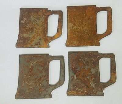 "Lot of 4 Beer Stein Mug Cup Shapes 3"" Rusty Metal Vintage Craft Sign Ornament"