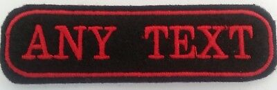 e9d96804078b RECTANGULAR 2 LINE Custom Embroidered Biker SEW ON Name Tag PATCH ...