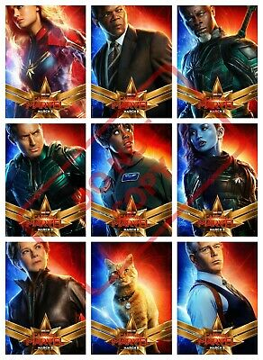 Captain Marvel Movie Characters POSTERS Print A4 A3 A3 ROOM DECO BUY1 GET2 FREE