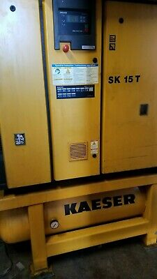 Kaeser SK 15 T 15hp Rotary Screw Air Compressor with Built-in Dryer and Tank