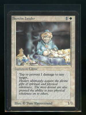 Healing Salve Alpha HEAVILY PLD White Common MAGIC THE GATHERING CARD ABUGames