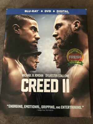 Creed II (2019) (Blu-ray+DVD+Digital) Free Shipping!
