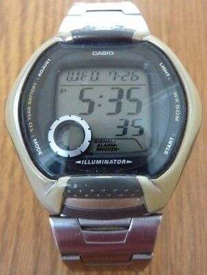 Casio Illuminator Retro Watch with Stainless Steel Strap W-102