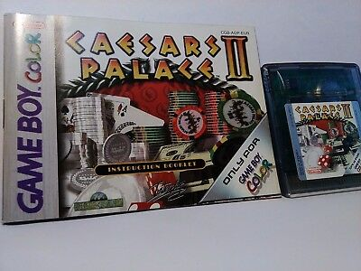 Caesars Palace II - Gameboy Game Boy Color (Cartridge,Manual) CGB A12P EUR