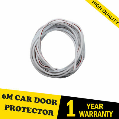 6M White Car Door Edge Guards Trim Molding Protection Strip Scratch Protector