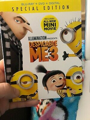 Despicable Me 3 [Blu-ray] + DVD + Digital New Unopened