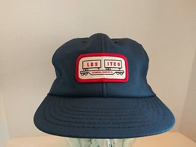 VTG LDS ITCO SnapBack Hat Logo Patch Intermodal Transport Co. NOS Made In USA