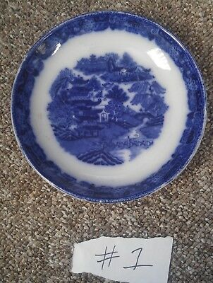 # 1  Flow blue bowl willow pattern england