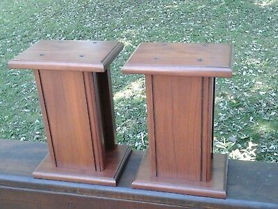 Cherry Speaker Stands 7 X 5  X 10 HIGH   very nice !