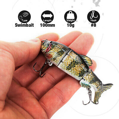 Fishing Lures Swimbaits Jointed Sections Bass Pike Walleye Fishing Wobbler 3.9''